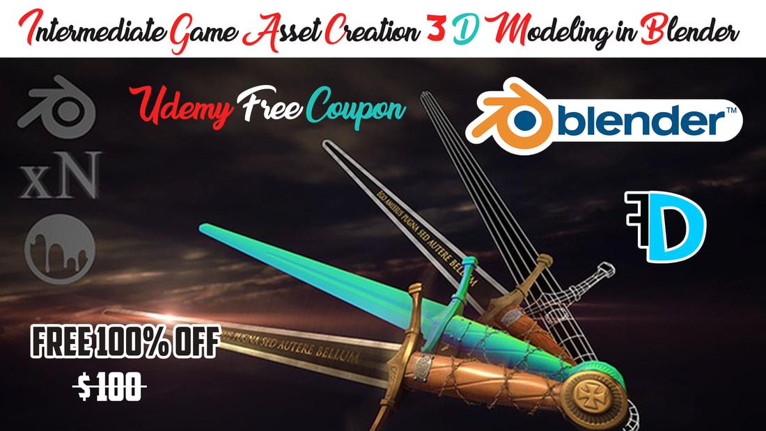 Game Asset Creation 3D Modeling in Blender - Free Download